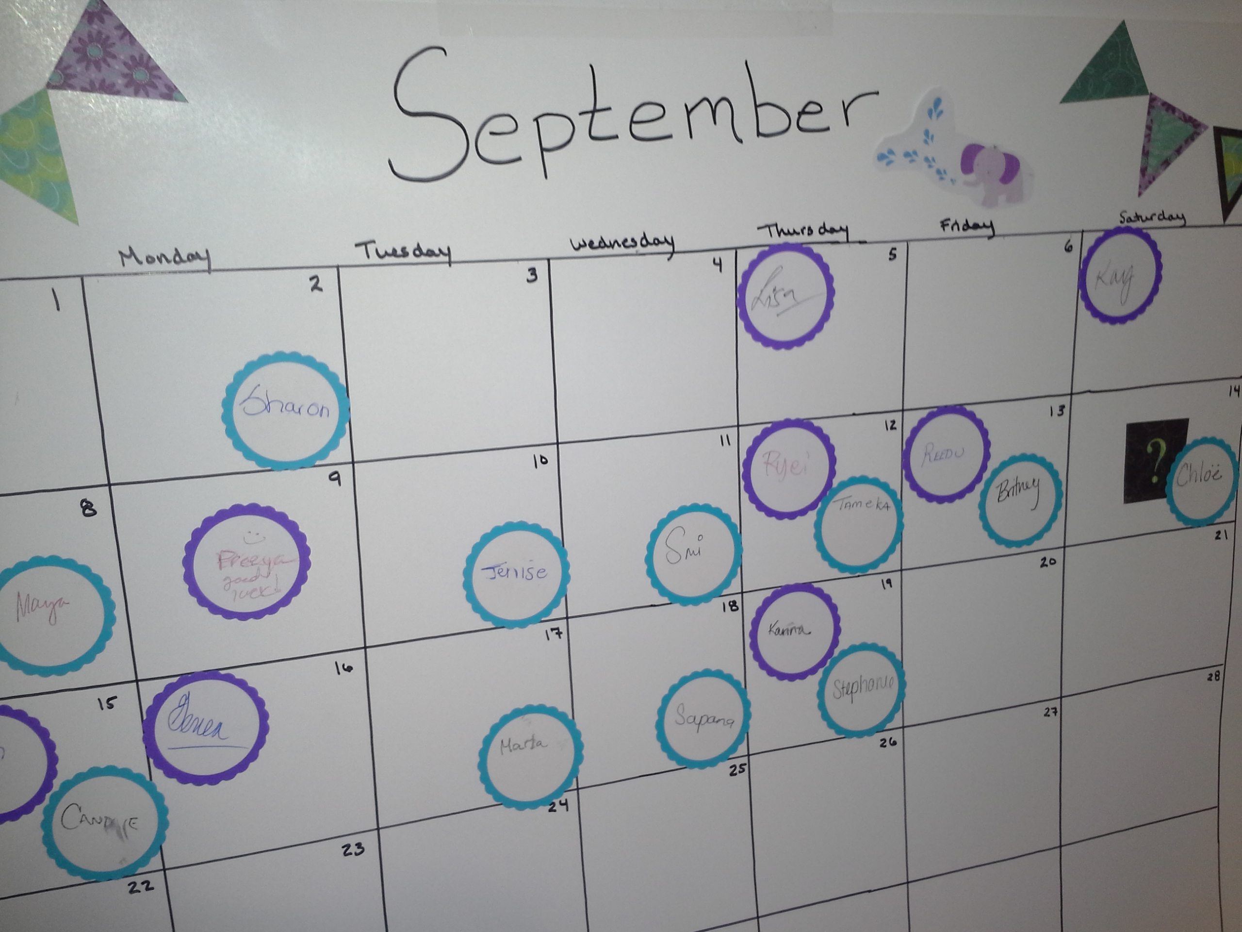 Baby due date pool