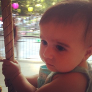 Reya recently rode the Prospect Park carousel with wide eyes.